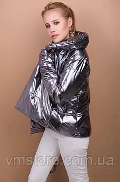 Модная и стильная серебристая куртка