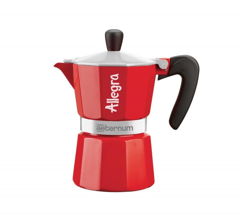 Гейзерная кофеварка Bialetti Allegra Aeternum Red (3 чашки - 170 мл)