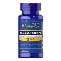 Мелатонин Puritans Pride Melatonin 3mg, 240 softgels