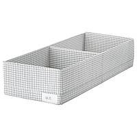 IKEA STUK (403.095.49) Коробка с перегородками, белый/серый
