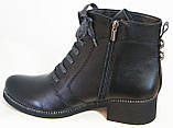 Ботинки демисезонные из натуральной кожи большого размера от производителя модель В5172-15К, фото 2
