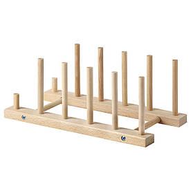 IKEA NYPLOCKAD (603.127.15) Тримач для тарілок, бук