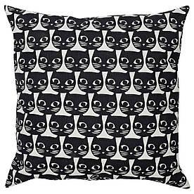 IKEA GERDIE (604.106.31) Подушка, білий, чорний кіт
