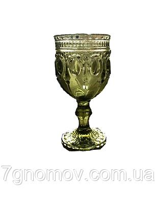 Бокал для вина из оливкового цветного стекла Каир 250 мл, фото 2