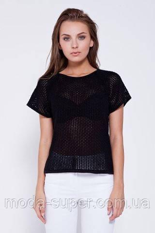 Блуза сетка черная