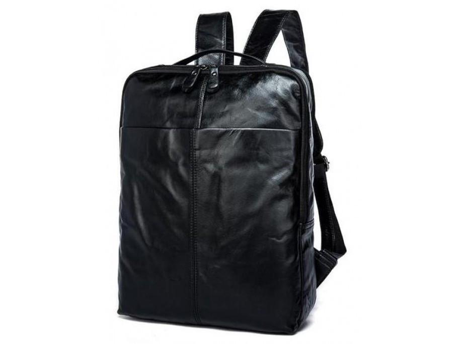 8e6087169122 Рюкзак кожаный TIDING BAG M8685A Черный (D1CrkL) - Best baggs в Хмельницком