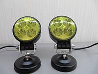ПТФ светодиодные LED 15-12W Spot  , противотуманные фары (желтые), комплект 2шт.