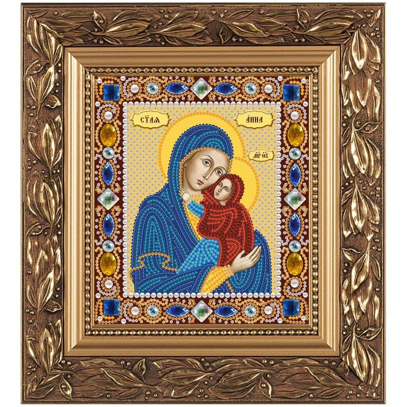 """Набор для вышивки иконы """"Св. Анна с Младенцем Марией"""""""