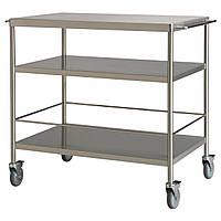 IKEA FLYTTA (000.584.87) Сервировочный столик, нержавеющая сталь