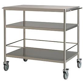 IKEA FLYTTA (000.584.87) Сервірувальний столик, нержавіюча сталь