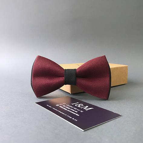 Краватка-метелик I&M Craft двоколірний бордовий з чорним (010602), фото 2
