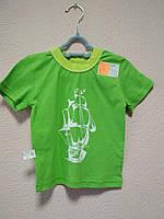 Футболка для мальчика летняя зеленая размер 92 Витуся
