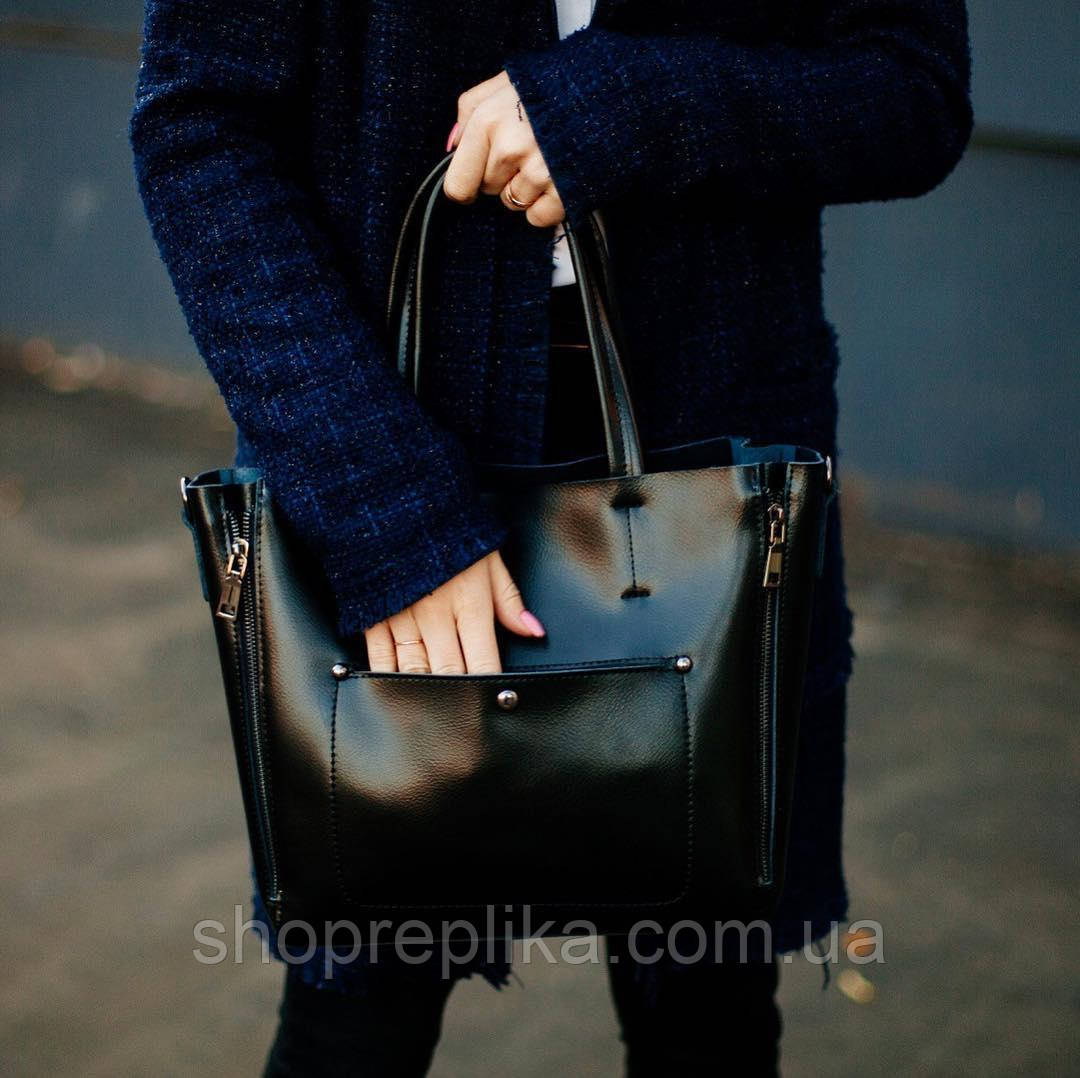 8b4e5d3bbb69 Кожаная сумка в черном цвете , кожаные сумки классика KT22223 ...