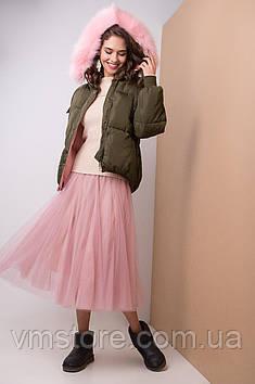 Модная и стильная куртка с мехом