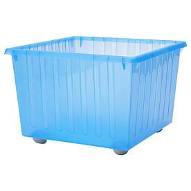IKEA VESSLA (800.985.16) Ящик на колесах, синій