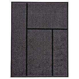 IKEA KOGE (302.879.39) Придверні килимок, сірий, чорний