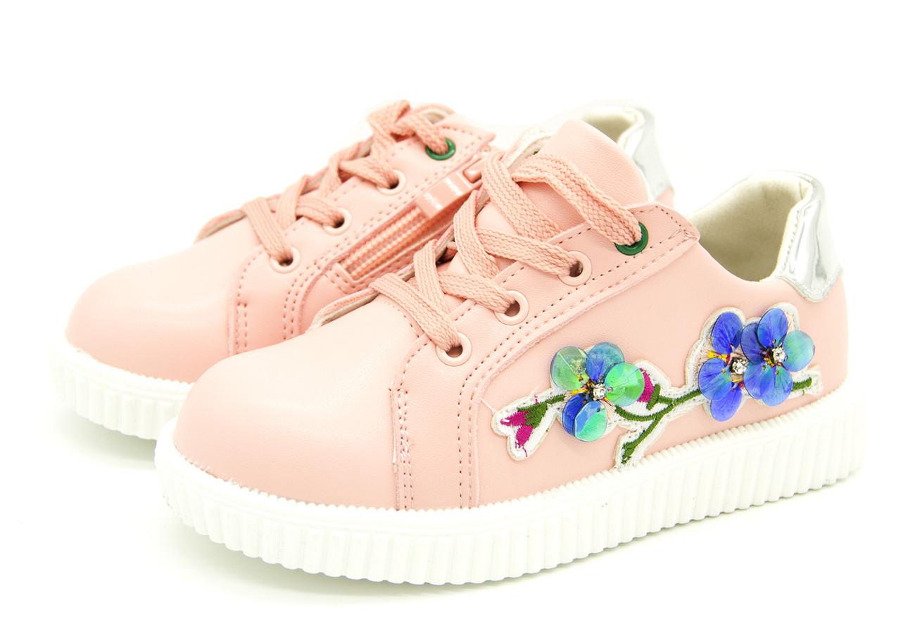 Кеды для девочки розовые