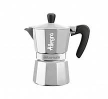 Гейзерная кофеварка Bialetti Allegra Aeternum Silver (3 чашки - 170 мл)