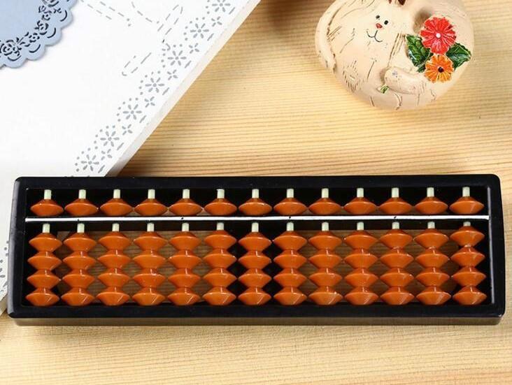 Счеты абакус с коричневыми косточками ментальная арифметика 13 рядов Game Toys