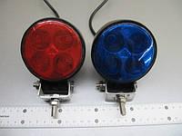 Стробоскопы светодиодные LED 15-12W красно - синие , синие , сине - желтые , желтые , фото 1