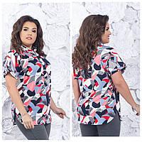 Блузка женская 420 большой размер (52 54 56 58) СП