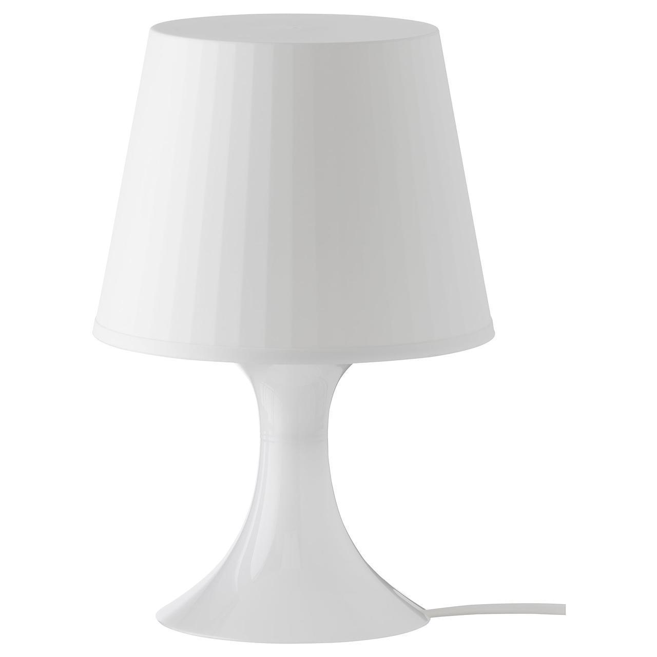 IKEA LAMPAN (200.469.88) Настольная лампа белого цвета