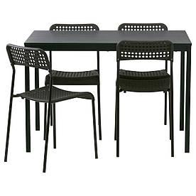 IKEA TARENDO / ADDE (790.106.90) Стіл і 4 стільця, чорний