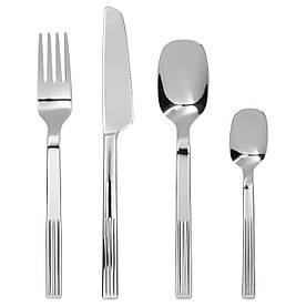 IKEA JUSTERA (602.589.64) Набор столовых приборов, 24 шт., Нержавеющая сталь