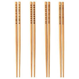 IKEA TREBENT (903.429.71) Четыре пары палочек, бамбук
