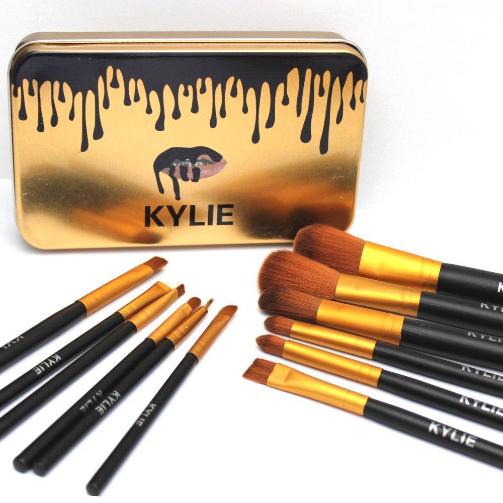 Набор кистей для макияжа Kylie 12 штук в футляре