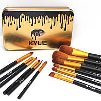 Набор кистей для макияжа Kylie 12 штук в футляре, фото 1