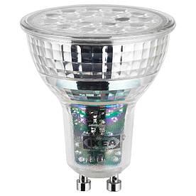 IKEA LEDARE (703.632.38) Світлодіодна лампа GU10 600 люмен, теплий