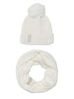 Женский оригинальный белый комплект снуд + шапка Calvin Klein, фото 1