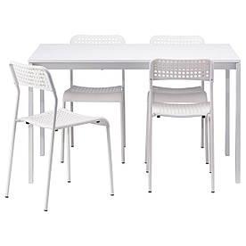 IKEA MELLTORP / ADDE (990.143.76) Стіл і 4 стільця