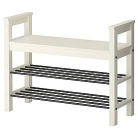 IKEA HEMNES (002.438.00) Лава з місцем для взуття, білий