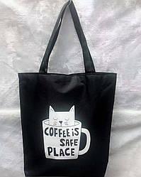 Пляжная сумка Кот в чашке