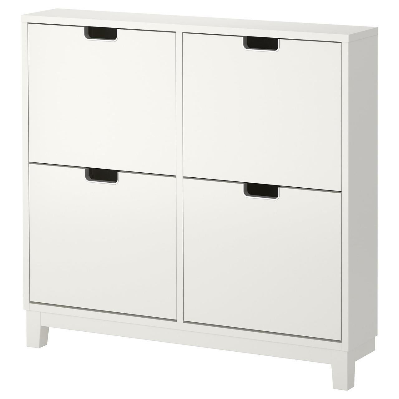 IKEA STALL (701.781.70) Шкаф для обуви/4 отделения, белый