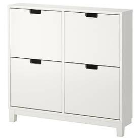 IKEA STALL (701.781.70) Шафа для взуття/4 відділення, білий
