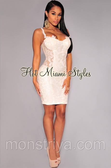 Шикарное вечернее платье вышитое паетками от Hot Miami Style