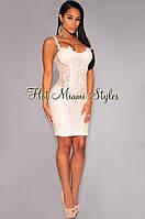 Шикарное вечернее платье вышитое паетками от Hot Miami Style, фото 1