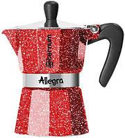 Гейзерная кофеварка Bialetti Allegra Aeternum Rubino (3 чашки - 170 мл)