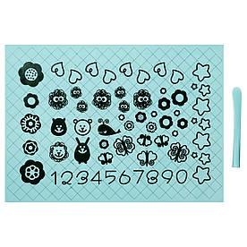 IKEA SOCKERKAKA (001.752.50) Лист для раскатывания теста и нож, голубой