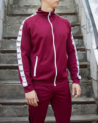 Кельми, олімпійка, чоловіча спортивна кофта Smoke (Смок) бордового кольору, фото 2