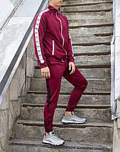 Мастёрка, олимпийка, мужская спортивная кофта Smoke (Смок) бордового цвета, фото 2