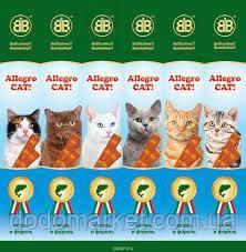 Рыбные колбаски с лососем и форелью для кошек Allegro Cat (Аллегро Кет) 6*5гр.