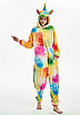 Пижама единорог взрослая кигуруми желтый звезды М, фото 2