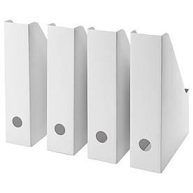 IKEA FLUNS (003.241.32) Подставка для журналов, белое