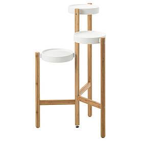 IKEA SATSUMAS (402.581.54) Підставка для квітів, бамбук, білий