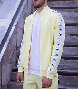 Мастёрка, олимпийка, мужская спортивная кофта Smoke (Смок) жёлтая