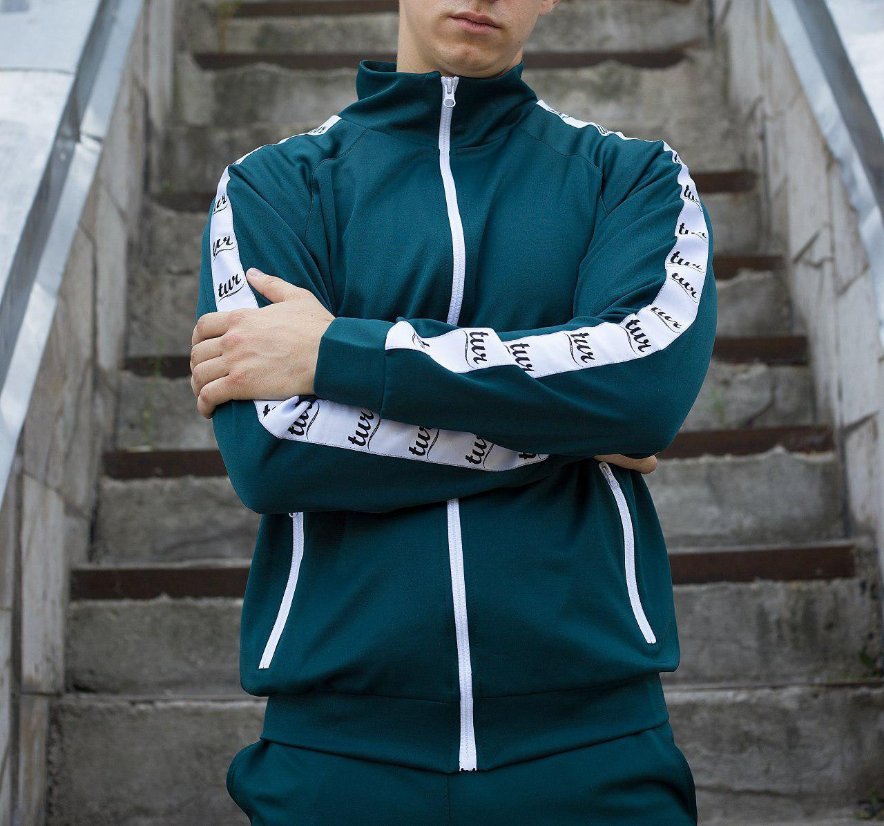Мастёрка, олимпийка, мужская спортивная кофта Smoke (Смок) зелёная
